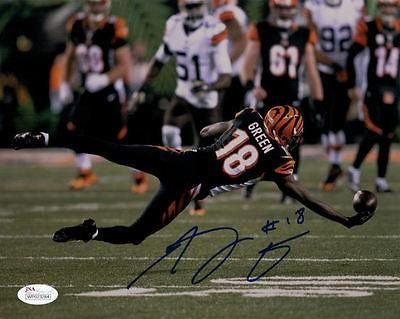 A.J. Green Signed Photo – Aj 8×10 #11444 diving Catch – JSA Certified – Autographed NFL Photos