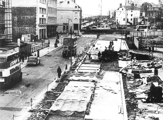 The rebuilding of Union Street, Plymouth 1940s