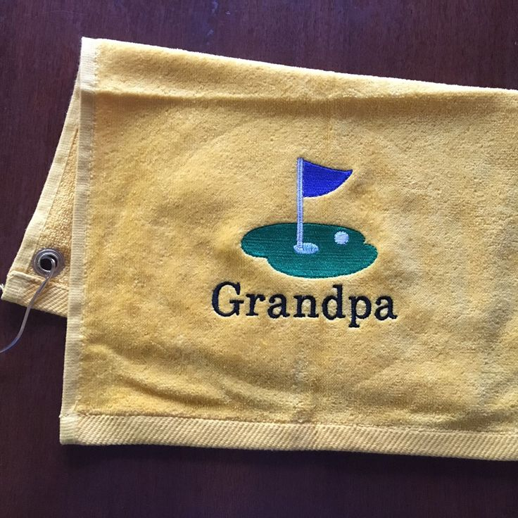 New yellow golf towels to my shop.
