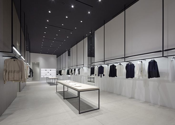 Nendo's store interiors for Theory are modelled on road systems #interiors