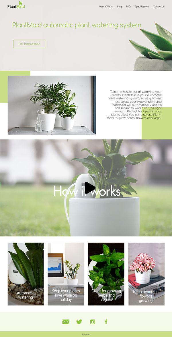 Webdesign for PlantMaid on Behance