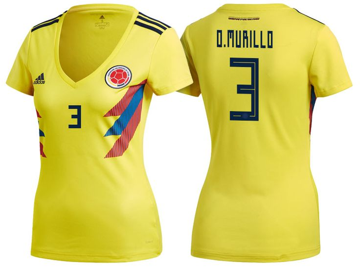 World Cup 2018 Colombia Soccer Jersey Women oscar murillo Football Shirt