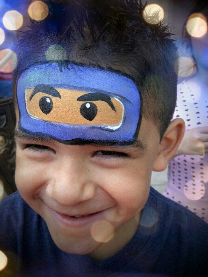 Ninjago face painting. www.Facebook.com/SnazyFacePainting