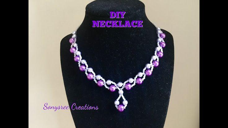 Elegant Wedding Necklace ....Super Easy Tutorial 👍🏻 - YouTube