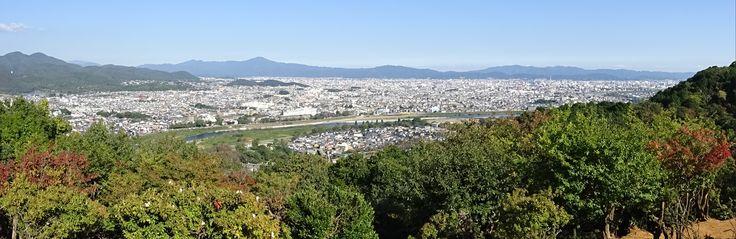 Kyoto panoramic from Arashiyama
