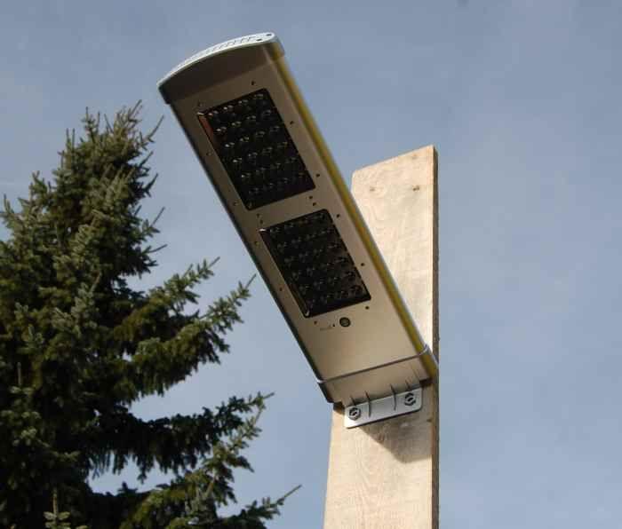 Buiten lantaarn op zonne energie met Li-ion batterij
