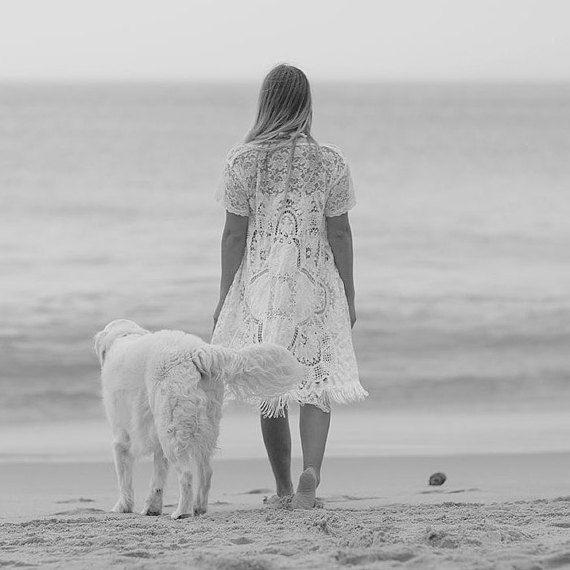 Turn your face to the Sun, and the shadows will fall behind you  Shadow Mandala Crochet Kimono cardigan Gypsy Beach by Fairtale