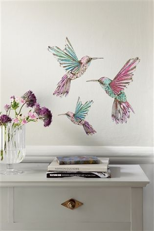 Hummingbird wall stickers from Next                                                                                                                                                      More