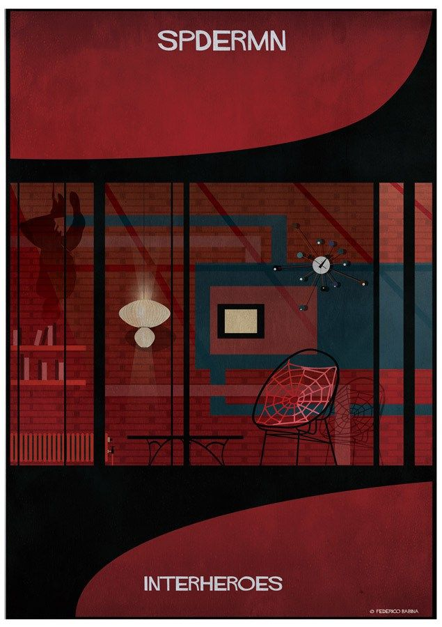 Interheroes Series – a Glimpse Into the Secret Homes of Superheroes  #Architecture meets #illustration and pop culture in the new series entitled #Interheroes by Italian architect and illustrator Federico Babina.  http://www.randomzebra.com/interheroes-series-a-glimpse-into-the-secret-homes-of-superheroes/