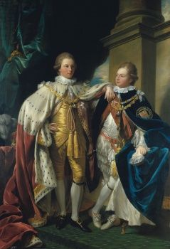 George IV, when Prince of Wales, with Frederick, Duke of York, when Prince Frederick