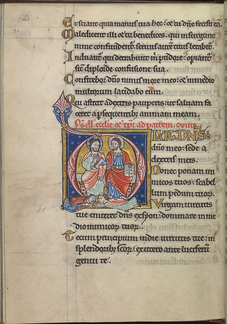 Psalm 109,Dixit dominus dominus meo,sede a dextris meis,Christ and God-Psalter of Eleanor of Aquitaine (c.1185)-KB 76 F 13,f.132v.24.10. 1144 Эдесса была захв.эмиром Мосула Зенгой.После того как об эт.узнали во Франции,25.12.1145 Людовик VII собр.в Бурже корол. двор.Там он объявил о том,что намерен организ.крест.поход в Палестину.Бернард Клервоский и папа римск.поддерж.призыв короля.31.03.1146 в Везле Бернард произн.проповедь, после чего крест приняло больш. кол-во графов,сеньоров и…