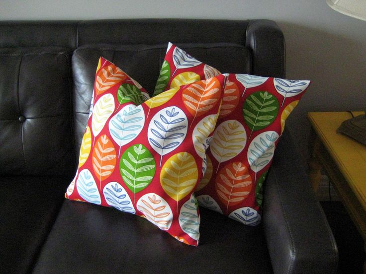 Cushion covers,Cottage decor,Red multi colored, pillow covers,set of 2 covers,home accent,pillow covers by Designs by Willowcreek on Etsy