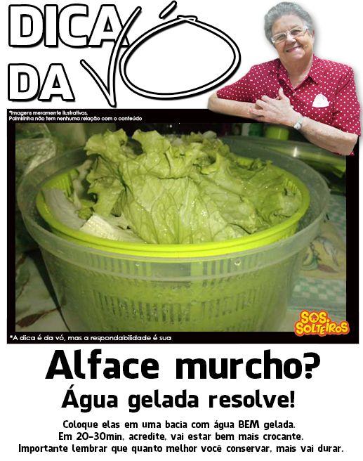 alface murcho?