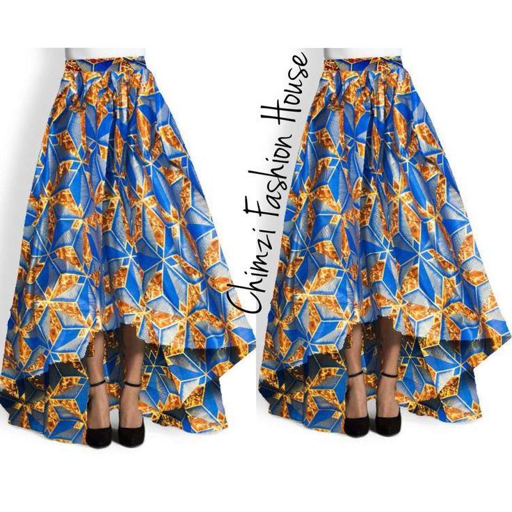 long High low maxi Ankara skirt 140030   Chimzi Fashion House