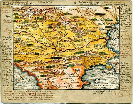 Map of Central/Southern Europe during the Late Middle Ages/Early Modern period by Johannes Honterus