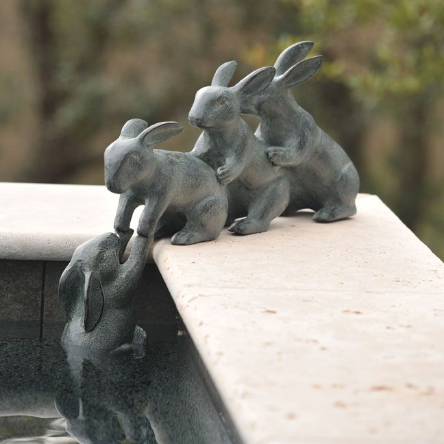 Bunny Friends | Charleston Gardens® - Home and Garden Collection Classic outdoor and garden furnishings, urns & planters and garden-related gifts
