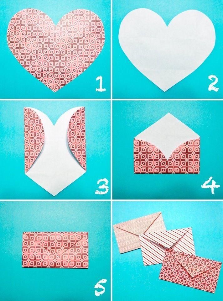 heart envelope diy best diy crafts pinterest. Black Bedroom Furniture Sets. Home Design Ideas