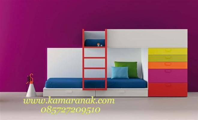 Tempat Tidur Anak Minimalis Pelangi