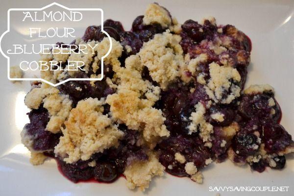 Almond Flour Blueberry Cobbler Recipe #GlutenFree