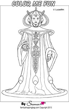 Queen Amidala Color Page Coloring Pages   Star wars ...
