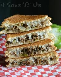 Ground Beef Philly Cheesesteak Grilled Cheese An edible dream come true. Ground Beef + Classic Philly Cheese Steak Flavor = a grilled cheese sandwich to beat all others. Even better? It's quick and easy from MyRecipeMagic.com