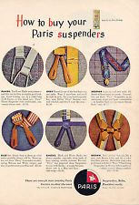 1952 Paris Suspenders-clothing  print ad /556