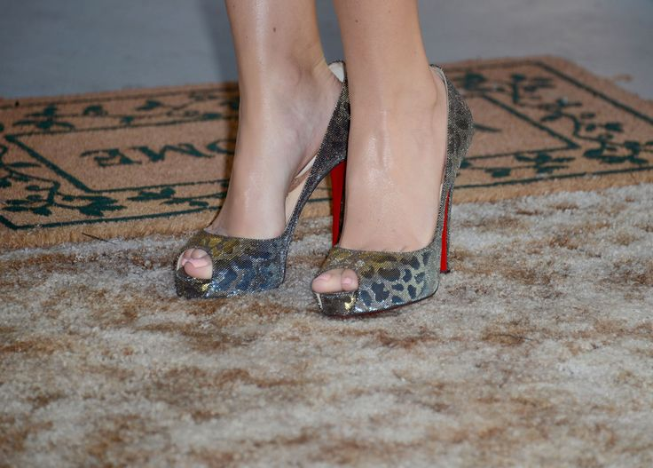 Comedian Amy Schumer (shoe detail) arrives at the Comedy Central Roast of Roseanne Barr at Hollywood Palladium on August 4, 2012 in Hollywood, California.