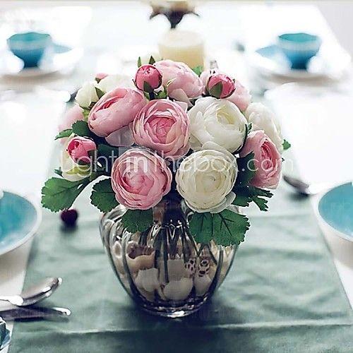 """9.1 """"h diez cabezas artísticas rosas de té del mismo color 2 manojos - EUR €18.61"""