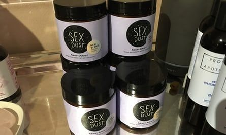 Sex Dust, priced $38 per jar, for sale at Goop Lab in Los Angeles