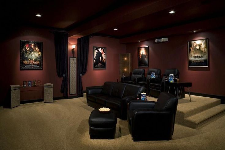 Incorporating a home theater space is a great way to make your basement cozy! No Incorporating a home theater space is a great way to make your basement cozy! No