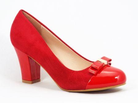Pantofi dama rosii  toc de 7 cm Gonya la pretul de 89 RON. Comanda Pantofi dama rosii  toc de 7 cm Gonya de la Biashoes!