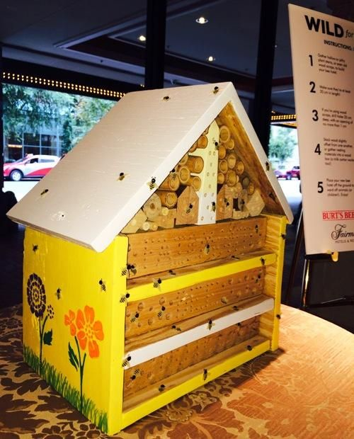Pollinator Bee Hotel in Fairmont Hotel  Lobby, Washington DC. If there is a pop-up bee polinator in a hotel lobby, perhaps there should be one in pop-up garden environments?! PopUp Republic