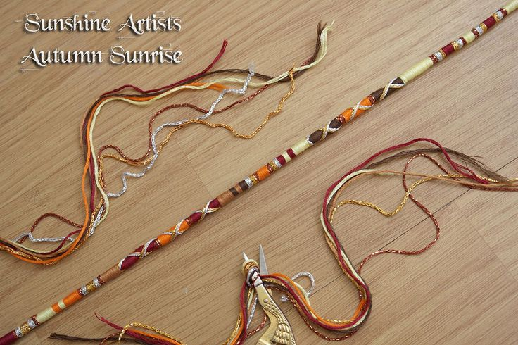 Autumn Sunrise, hair wrap, clip in braid, fall accessories, brown tan, orange lemon, deep red, silver gold, Tibetan silver, Diamante bead by SunshineArtists on Etsy