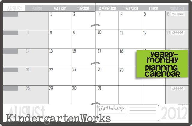 Calendar Printables For Teachers : Printable calendar  template teaching