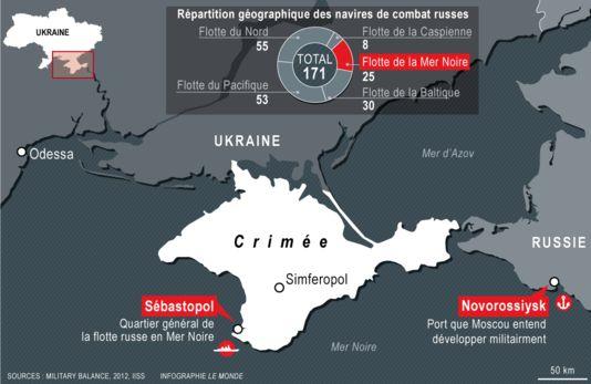 La flotte de la mer Noire son port d'attache principal est actuellement Sébastopol, en Crimée. Une autre base à Novorossiisk.