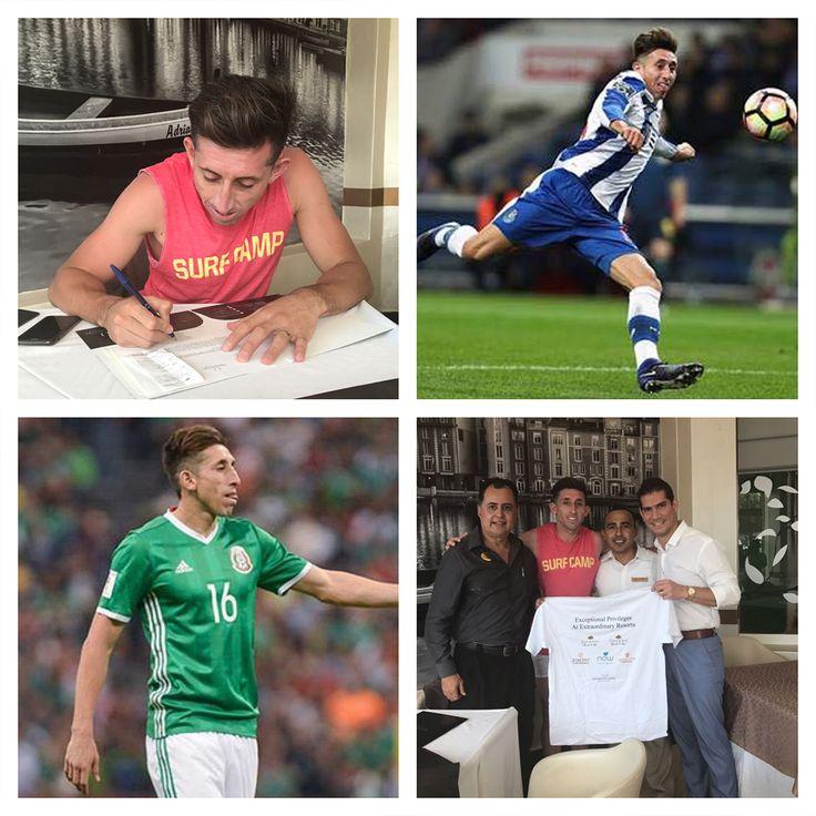 Hector Herrera, soccer player from Porto and Mexican National Team is now an #UVCMember @ Dreams Sands // Hector Herrera jugador del Porto de Portugal y seleccionado nacional es ahora #SocioUVC en Dreams Sands