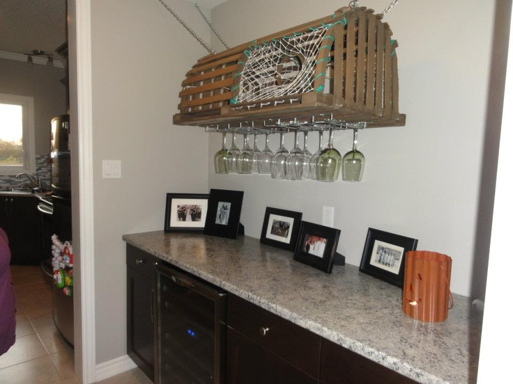 Custom Made Lobster Trap Wine Glass Rack We Got Made For My Sister In Law!  I Love It! | For The Home | Pinterest | Lobster Trap, Wine Glass Rack And  Glass ...