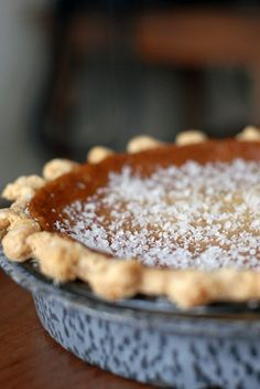 "Salty Honey Pie: ""This pie is to die for…so smooth, not too sweet and just fantastic!"" From Four and Twenty Blackbirds Bakery in Brooklyn"