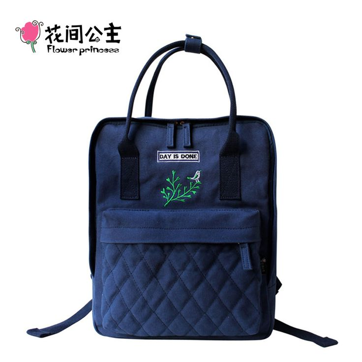 74.54$  Watch now - http://visbr.justgood.pw/vig/item.php?t=wt506o49394 - Flower Princess Canvas Backpack Women School Bag for Teenagers Girls Preppy Styl
