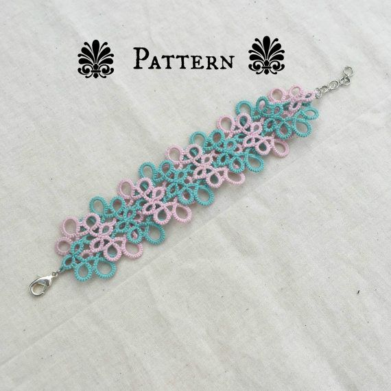 Tatting PATTERN - Celtic Bracelet Tatting Pattern, Rose Quartz and Serenity, Tatted Bracelet Pattern, Intermediate Tatting Pattern
