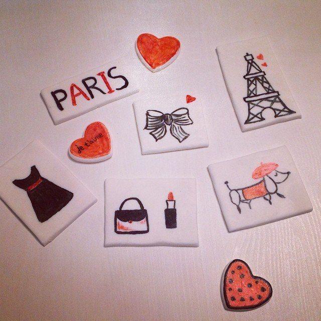 Paris. Fondant   Фигурки из мастики. Париж