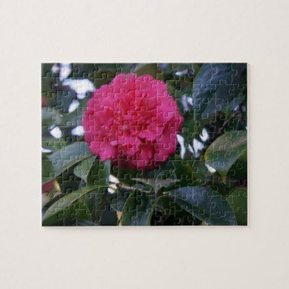 Daikagura Red Camellia Jigsaw Puzzle  $19.95  by EverydayLifeSF  - custom gift idea