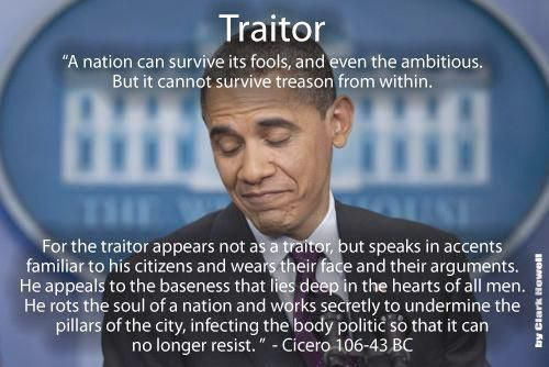 15 Dreadfully Treasonous Words In Obama's Speech - Obamanation is the worst, most untrusted, untalented, and ineffective Commander-in-Chief. He will be even worse as Dictator-in-Chief. He's worse than the Impeached Rapist former Democratic President Clintooooooooooooon!