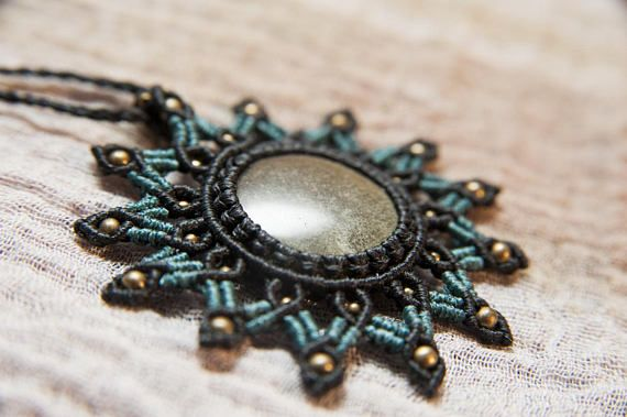 Hey, I found this really awesome Etsy listing at https://www.etsy.com/listing/576296641/micromacrame-mandala-necklace-with