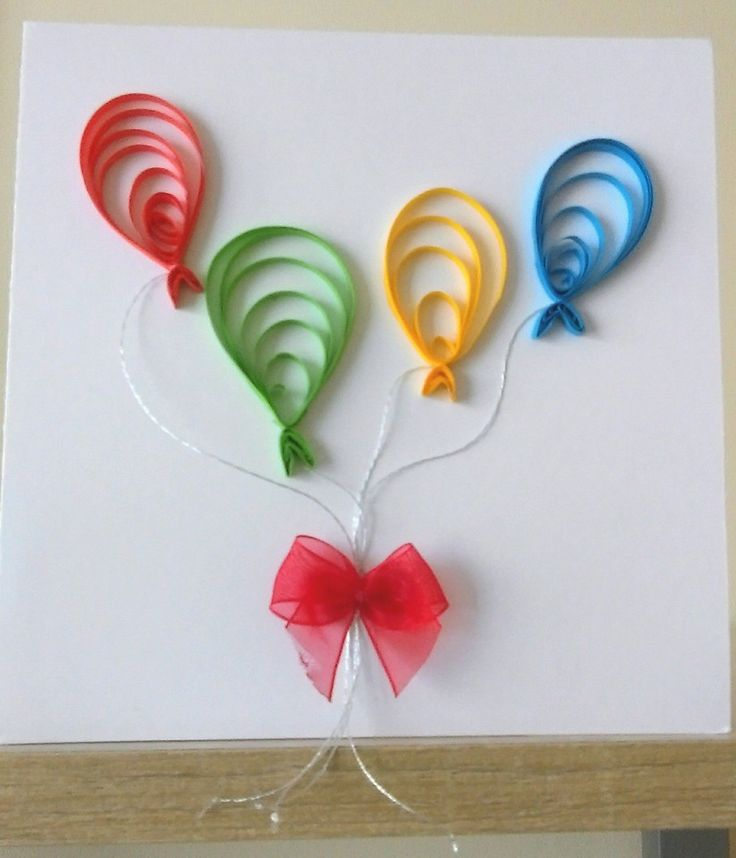 Had a go at quilling balloons for a card