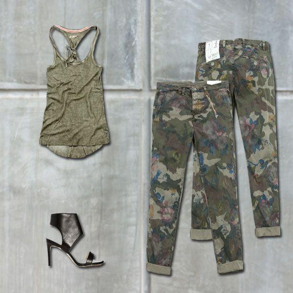 #40WEFT #SS2014 #camouflage #womenfashion #flower #boyfriendfit #top #nightoutfit