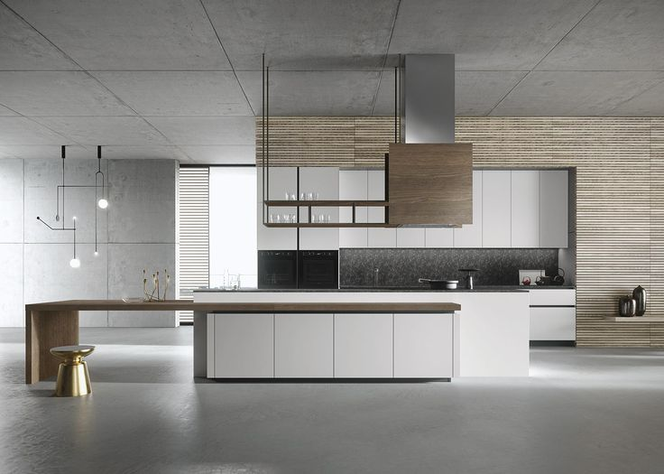 designed by architect michele marcon look is a luxury modern kitchen with a timeless appeal