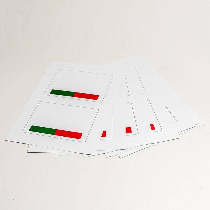 Papir til print-selv-logoer på I-sign dør/mødeskilt
