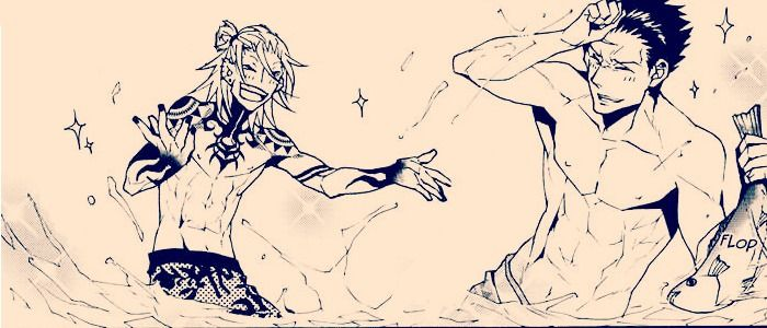 """{Togainu no Chi} ~Gunji & Kiriwar~ """"Smashin watermelons are fun!"""" -Gunji"""