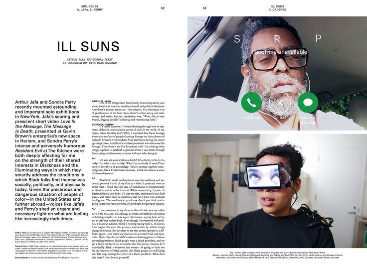 #moussemagazine #arthurjafa #sondraperry  #art #contemporaryart